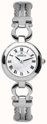 Michel Herbelin dames de câbles en acier bracelet montre 17422/B29