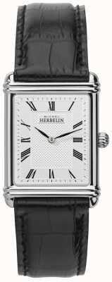 Michel Herbelin Hommes, analogique quartz, bracelet en cuir 17468/08