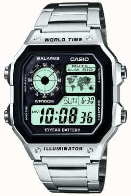 Casio multifonction Horloge numérique mondiale quartz AE-1200WHD-1AVEF