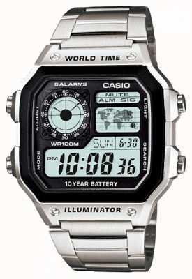 Casio Minuterie numérique multifonction monde quartz AE-1200WHD-1AVEF