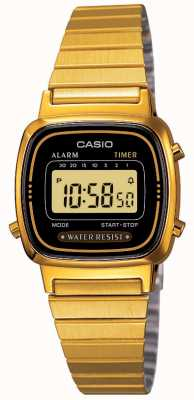 Casio Bracelet numérique femme rétro plaqué or LA670WEGA-1EF