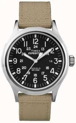 Timex Mens expédition noire montre scout T49962