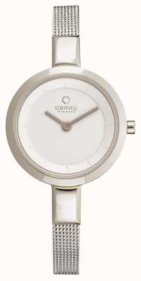 Obaku Womens maigre maille d'acier inoxydable V129LXCIMC