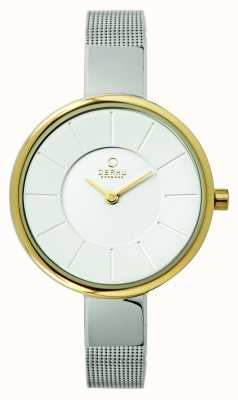 Obaku Mesdames maille d'acier inoxydable braclelet V149LXAIMC