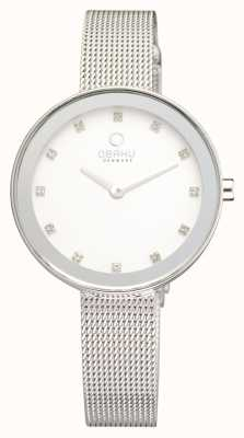 Obaku Womens mince maille d'acier inoxydable V161LXCIMC