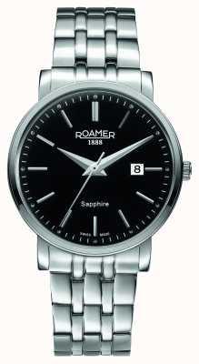Roamer Ligne classique | bracelet en acier inoxydable | cadran noir 709856-41-55-70