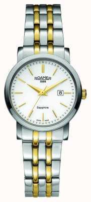 Roamer Ligne classique | acier inoxydable bicolore | cadran blanc 709844 47 25 70