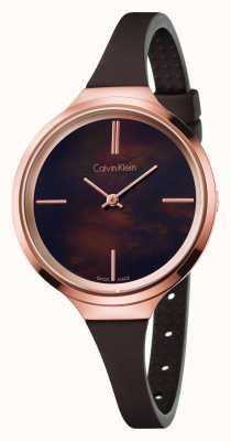 Calvin Klein Bracelet en caoutchouc marron Mesdames animé K4U236FK