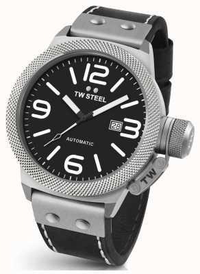 TW Steel Gents cantine 45mm bracelet en cuir automatique CS5