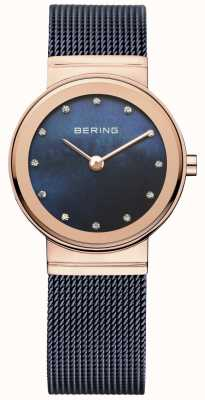 Bering Mesdames filet bleu PVD or rose 10126-367