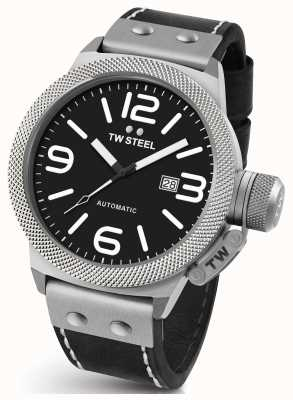 TW Steel Gents cantine 50mm cuir noir automatique CS6