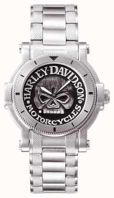 Harley Davidson Mens Willie g montre crâne du poignet 76A11