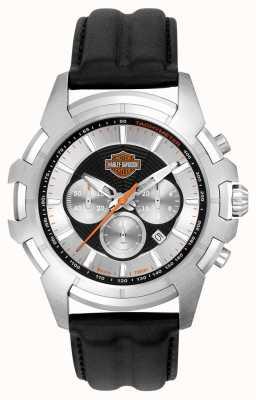 Harley Davidson Mens web design noir et argent araignée 76B161