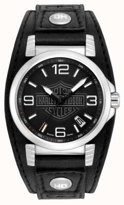 Harley Davidson Mens Watch date en acier inoxydable 76B163