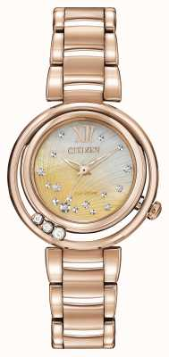 Citizen Sunrise a augmenté Eco-Drive d'or EM0323-51N