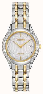 Citizen Ladies Eco-Drive 30 diamant à deux tons GA1064-56A