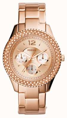 Fossil Mesdames stella rose plaqué or PVD ES3590