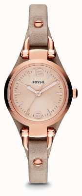 Fossil Mesdames Georgia Rose cuir plaqué or PVD ES3262