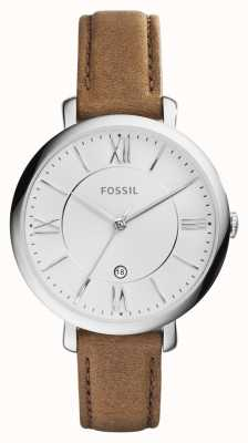 Fossil Femmes jacqueline bracelet en cuir brun ES3708