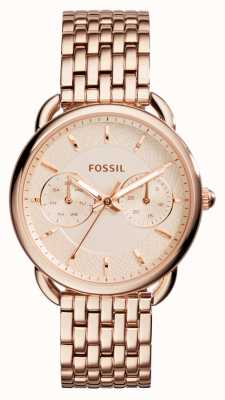 Fossil tailleur Womens rose plaqué PVD or ES3713