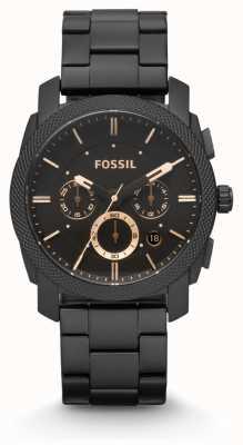 Fossil Machine Gents plaqué PVD noir FS4682