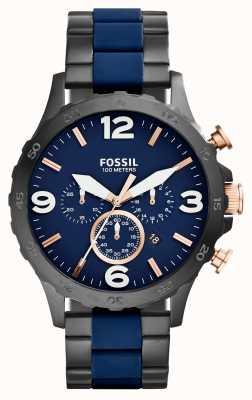 Fossil Mens Nate chronographe ip Black Watch de la marine JR1494