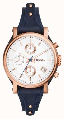 Fossil Womens petit ami d'origine rose pvd or ES3838