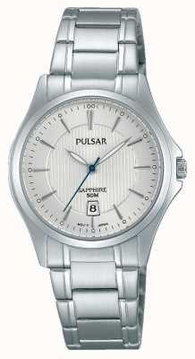 Pulsar Mesdames cadran argenté en acier inoxydable PH7423X1