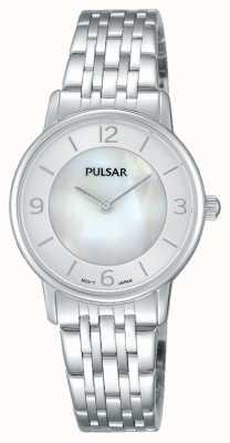 Pulsar inox mère de cadran en nacre d'acier de dames PRW025X1