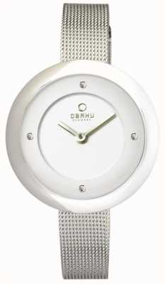 Obaku Womens maille d'acier inoxydable V162LXCIMC