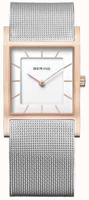 Bering Womens bracelet en maille d'acier inoxydable 10426-066-S