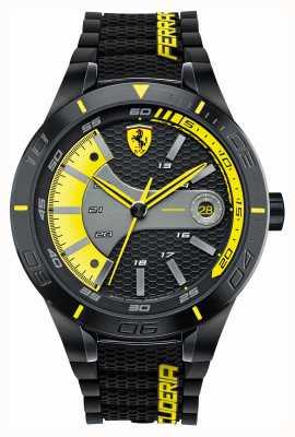 Scuderia Ferrari Red rev evo noir silicone noir cadran jaune 0830266