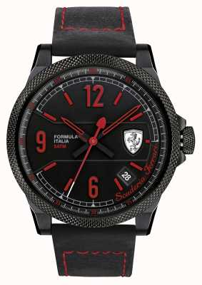 Scuderia Ferrari Formule italia bracelet noir cadran noir 0830271