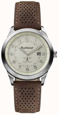 Barbour Hommes Walker bracelet en cuir brun BB017CPBR