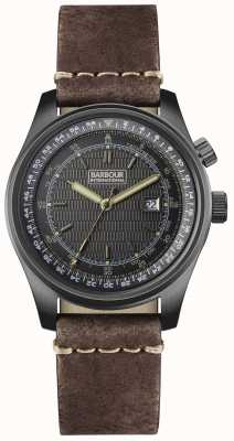 Barbour Mens boldon bracelet en cuir brun BB038SLTN
