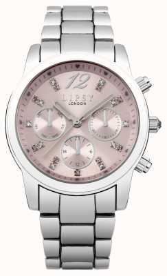 Lipsy Womens cadran bracelet rose en acier inoxydable LP390