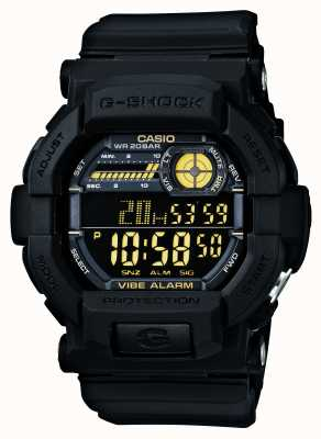 Casio G-shock Vibrant 5 Alarm Watch noir jaune GD-350-1BER