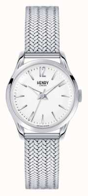 Henry London Edgware acier inoxydable maille cadran blanc HL25-M-0013