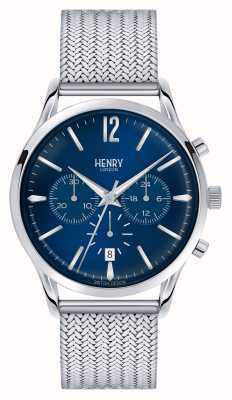 Henry London Knightsbridge maille d'acier inoxydable chrono HL41-CM-0037