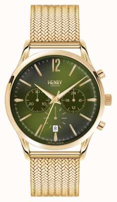 Henry London Chiswick plaqué or maille chronographe HL41-CM-0108