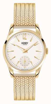 Henry London or Westminster plaqué maille cadran champagne HL30-UM-0004