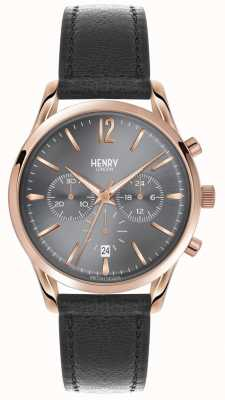 Henry London Chronographe en cuir gris finchley HL39-CS-0122