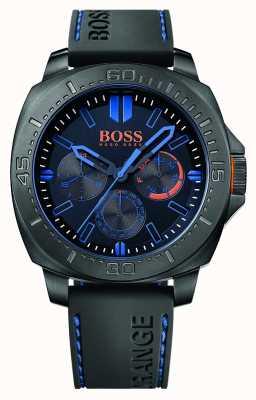 Hugo Boss Orange Mens sao paulo bracelet en caoutchouc noir cadran noir 1513242
