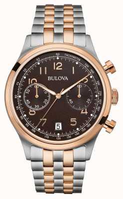 Bulova Mens deux bracelets chronographe ton cadran noir 98B248
