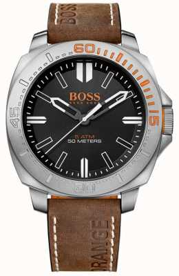 Hugo Boss Orange Gents sao paulo cuir marron bracelet de montre 1513294