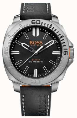 Hugo Boss Orange Gents sao paulo cuir noir bracelet de montre 1513295