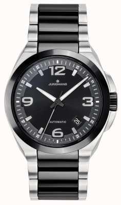 Junghans Spektrum | automatique | bracelet en acier céramique noir / argent 027/1500.44
