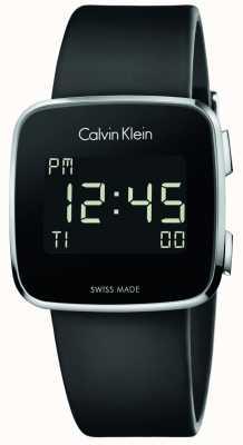 Calvin Klein Avenir unisexe bracelet en caoutchouc noir numérique K5C21TD1