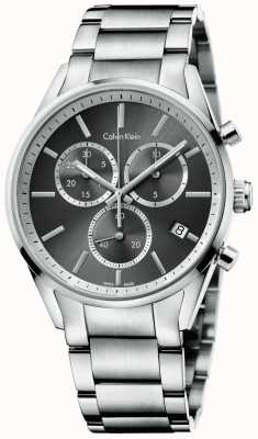 Calvin Klein Formalité mens chrono en acier inoxydable K4M27143