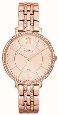 Fossil Jacqueline Femmes en or rose PVD pierre ensemble ES3546